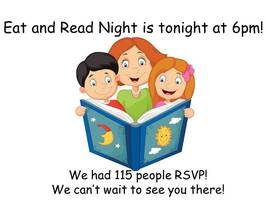 Eat and Read Night is tonight!