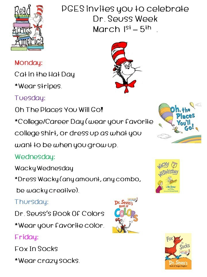 Dr. Seuss Week is next week!