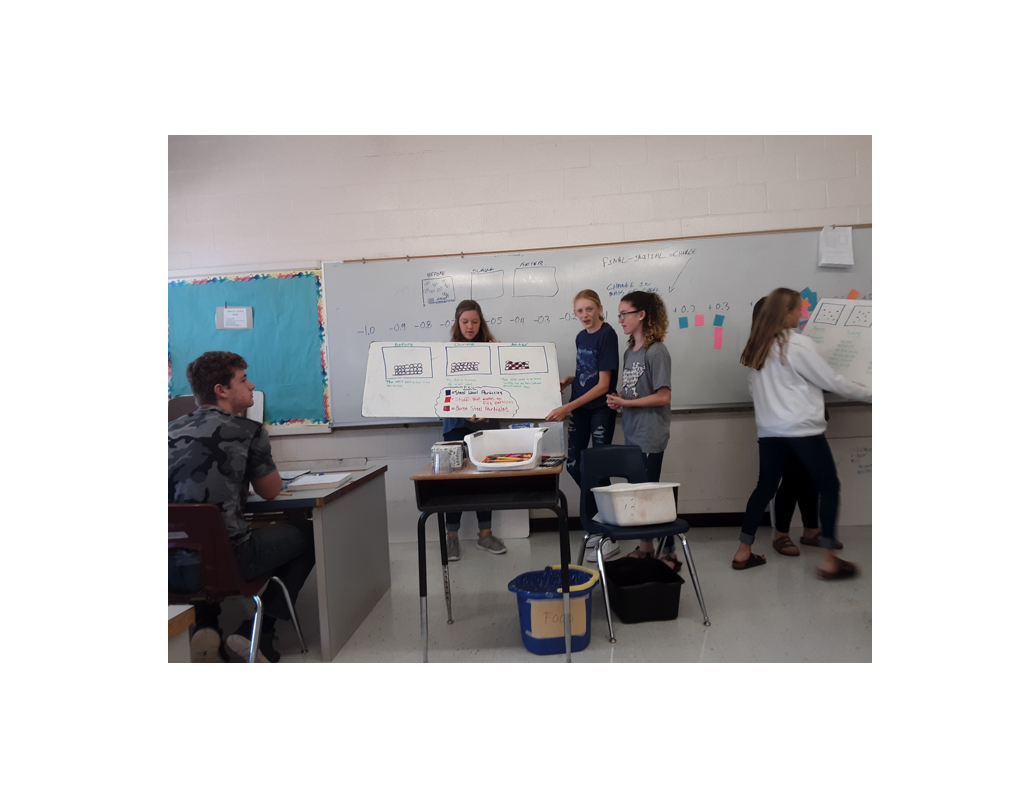 Students presenting work